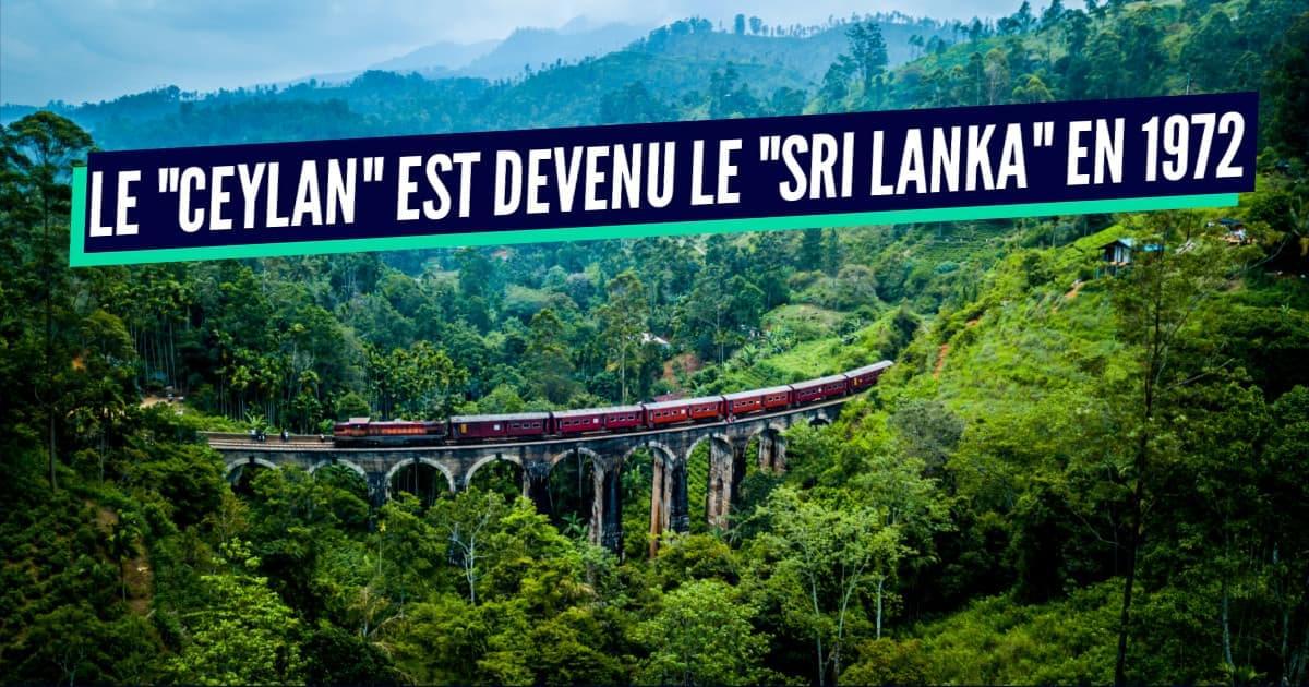 Pourquoi le Sri Lanka a changé de nom ?