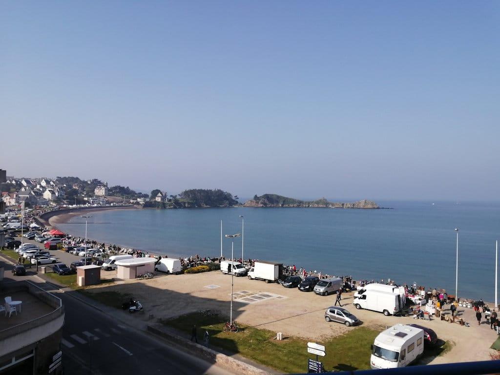 La vue de la mer depuis la résidence Beaurivage
